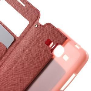 Safety puzdro s okienkom pre Samsung Galaxy Grand Prime - rose - 5