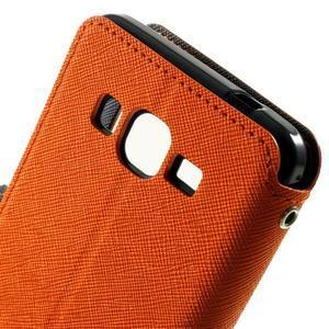 Safety puzdro s okienkom pre Samsung Galaxy Grand Prime - oranžové - 5