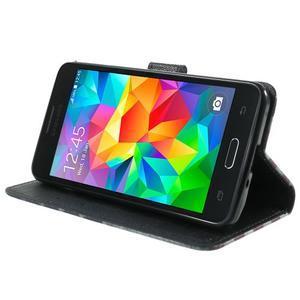 Wallet PU kožené puzdro na mobil Samsung Galaxy Grand Prime - US vlajka - 5