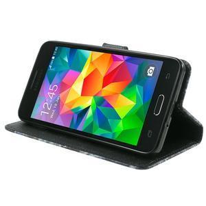 Wallet PU kožené puzdro na mobil Samsung Galaxy Grand Prime - modrý motýľ - 5