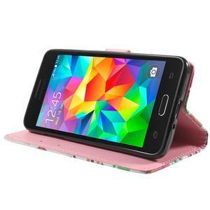 Wallet PU kožené puzdro na mobil Samsung Galaxy Grand Prime - sovičky - 5
