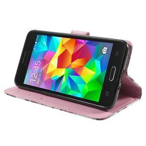 Wallet PU kožené puzdro pre mobil Samsung Galaxy Grand Prime - kvietky - 5