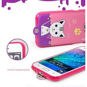 Domi gélové puzdro s mačičkou pre Samsung Galaxy J1 - rose - 5