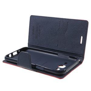 Diary štýlové peňaženkové puzdro pre Samsung Galaxy J5 -  červené - 5