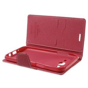 Diary štýlové peňaženkové puzdro pre Samsung Galaxy J5 -  ružové - 5