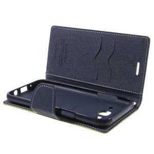 Diary štýlové peňaženkové puzdro pre Samsung Galaxy J5 -  zelené - 5