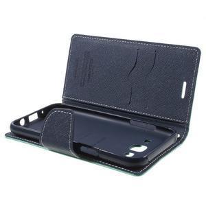 Diary štýlové peňaženkové puzdro pre Samsung Galaxy J5 -  azúrové - 5