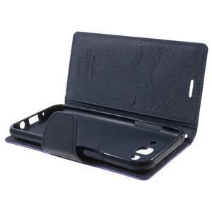 Diary štýlové peňaženkové puzdro pre Samsung Galaxy J5 -  fialové - 5