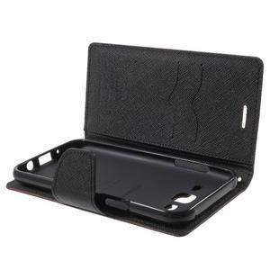 Diary štýlové peňaženkové puzdro na Samsung Galaxy J5 -  hnedé - 5
