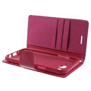 Luxury textilné/pu kožené puzdro pre Samsung Galaxy J5 - rose - 5