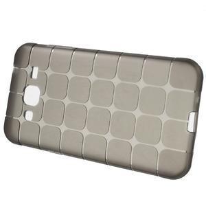 Square matný gélový obal na Samsung Galaxy J5 - šedý - 5