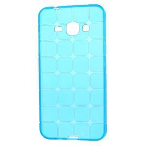 Square matný gélový obal na Samsung Galaxy J5 - modrý - 5