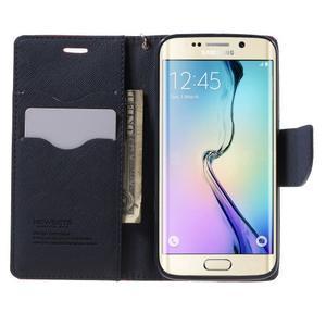 Diary PU kožené puzdro pre Samsung Galaxy S6 Edge - červené - 5