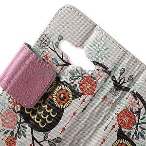 Vzorové peňaženkové puzdro na Samsung Galaxy Xcover 3 - sova - 5