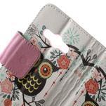 Vzorové peňaženkové puzdro na Samsung Galaxy Xcover 3 - sova - 5/7