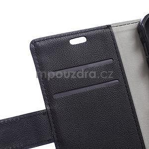 Peňaženkové pu kožené puzdro na Samsung Galaxy Xcover 3 - čierne - 5