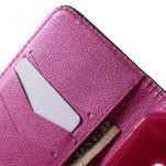 Vzorové peňaženkové puzdro na Samsung Galaxy Xcover 3 - srdce - 5/7