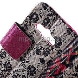 Vzorové peňaženkové puzdro na Samsung Galaxy Xcover 3 - mašlička - 5