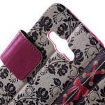 Vzorové peňaženkové puzdro na Samsung Galaxy Xcover 3 - mašlička - 5/7