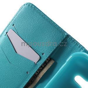 Vzorové peňaženkové puzdro pre Samsung Galaxy Xcover 3 - vodný kvet - 5