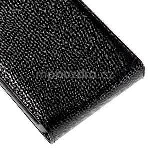 Flipové koženkové puzdro na Samsung Galaxy Xcover 3 - čierne - 5