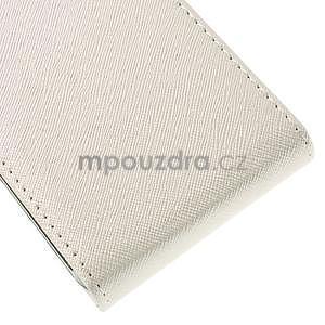 Flipové koženkové puzdro pre Samsung Galaxy Xcover 3 - biele - 5