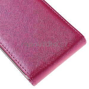 Flipové koženkové puzdro pre Samsung Galaxy Xcover 3 - ružové - 5