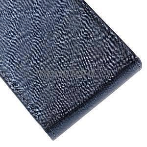 Flipové koženkové puzdro pre Samsung Galaxy Xcover 3 - tmavomodré - 5
