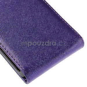 Flipové koženkové puzdro pre Samsung Galaxy Xcover 3 - fialové - 5