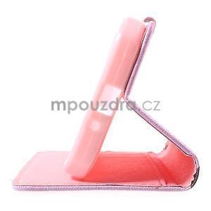 Štýlové peňaženkové puzdro pre Samsung Galaxy Xcover 3 - kvitnúca vetvička - 5