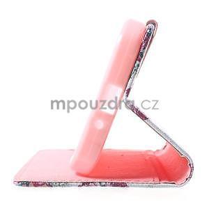 Štýlové peňaženkové puzdro pre Samsung Galaxy Xcover 3 - kvetinová koláž - 5