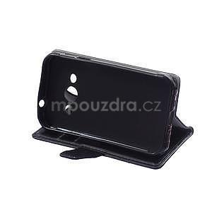 Čierne koženkové puzdro Samsung Galaxy Xcover 3 - 5