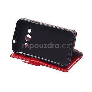 Červené koženkové puzdro Samsung Galaxy Xcover 3 - 5
