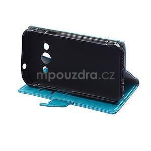 Modré koženkové puzdro Samsung Galaxy Xcover 3 - 5