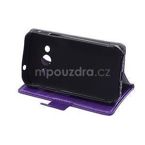 Fialové koženkové puzdro Samsung Galaxy Xcover 3 - 5