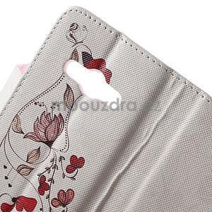 Vzorové peňaženkové puzdro na Samsung Galaxy Xcover 3 - červené kvety - 5