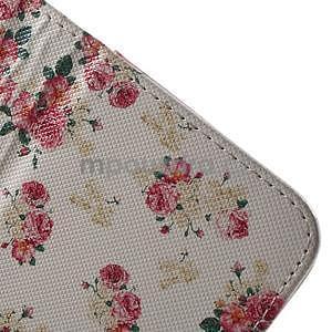 Vzorové peňaženkové puzdro na Samsung Galaxy Xcover 3 - kvety - 5