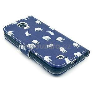 Pěněženkové pouzdro na Samsung Galxy S4 - sloni pro štěstí - 5