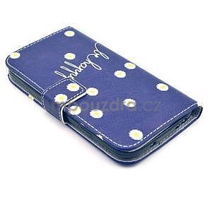 Peňaženkové puzdro pre Samsung Galaxy S4 - kvietky be happy - 5