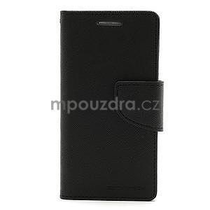 PU kožené peňaženkové puzdro pre Samsung Galaxy S4 mini - čierne - 5