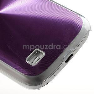 Metalický obal pre Samsung Galaxy S4 mini - fialový - 5