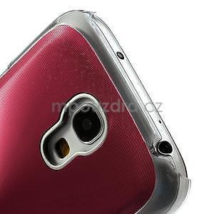 Metalický obal pre Samsung Galaxy S4 mini - červený - 5
