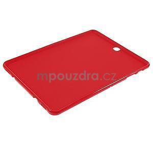 Glossy gélový obal pre Samsung Galaxy Tab S2 9.7 - červený - 5