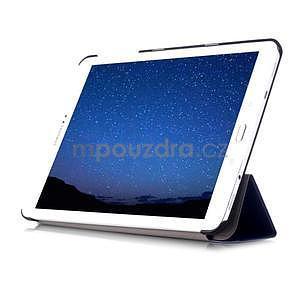 Trifold polohovateľné púzdro na Samsung Galaxy Tab S2 9.7 - tmavomodré - 5