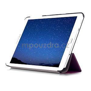 Trifold polohovateľné púzdro pre Samsung Galaxy Tab S2 9.7 -  fialové - 5