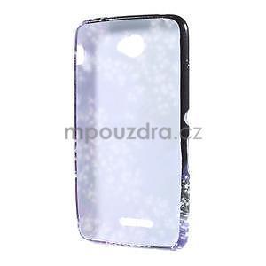Gelový obal na Sony Xperia E4 - fialové květy - 5