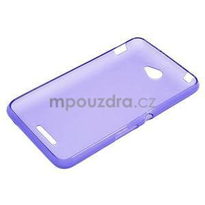 Gélový jednofarebný obal pre Sony Xperia E4 - fialový - 5