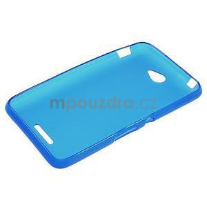 Gelový jednobarevný obal pro Sony Xperia E4 - modrý - 5