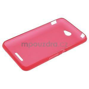 Gélový jednofarebný obal pre Sony Xperia E4 - červený - 5