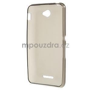 Gélový jednofarebný obal pre Sony Xperia E4 - sivý - 5